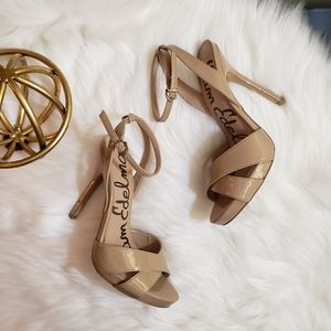 Sam Edelman | 8.5 Aly ankle strap sandal heel nude
